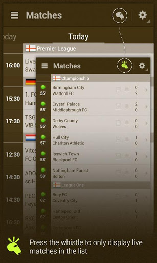 migliori app android gratis - live score addicts