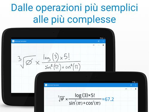 Risolvere espressioni matematiche online Android