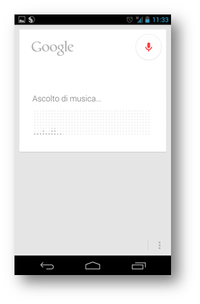 Google Now Ascolta Musica