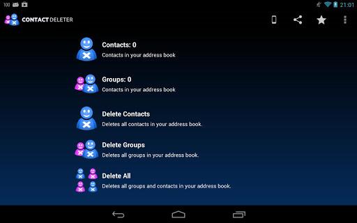 Contact deleter