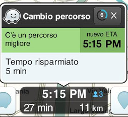percorso alternativo waze
