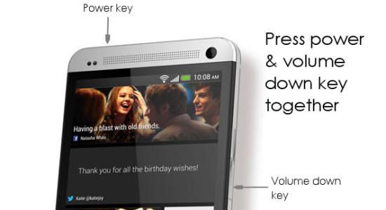 effettuare uno ScreenShot su HTC One