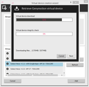 installare Android su PC con GenyMotion
