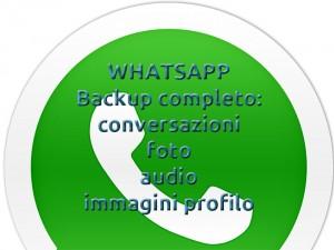 Come effettuare backup su Whatsapp