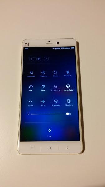 Recensione Xiaomi Mi Note pro - Impostazioni veloci
