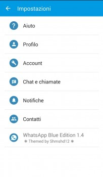 MOD per Whatsapp Blu & Rosso