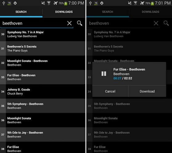 App android per scaricare musica - simple mp3 downloader