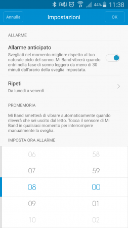 recensione mi band 1s screen 4