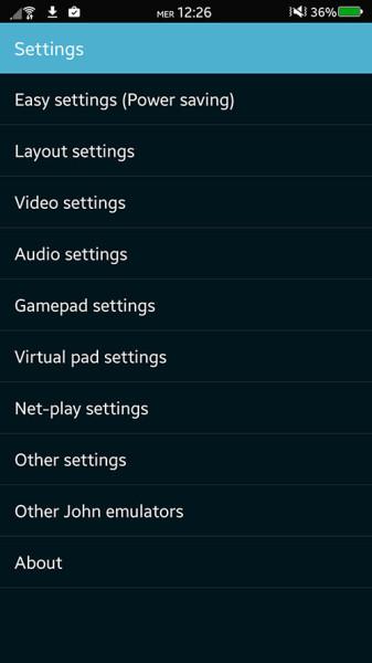 Migliori emulatori di giochi per android - John SNES - SNES Emulator