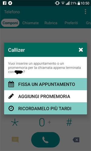 App agenda per Android gratis - Callizer