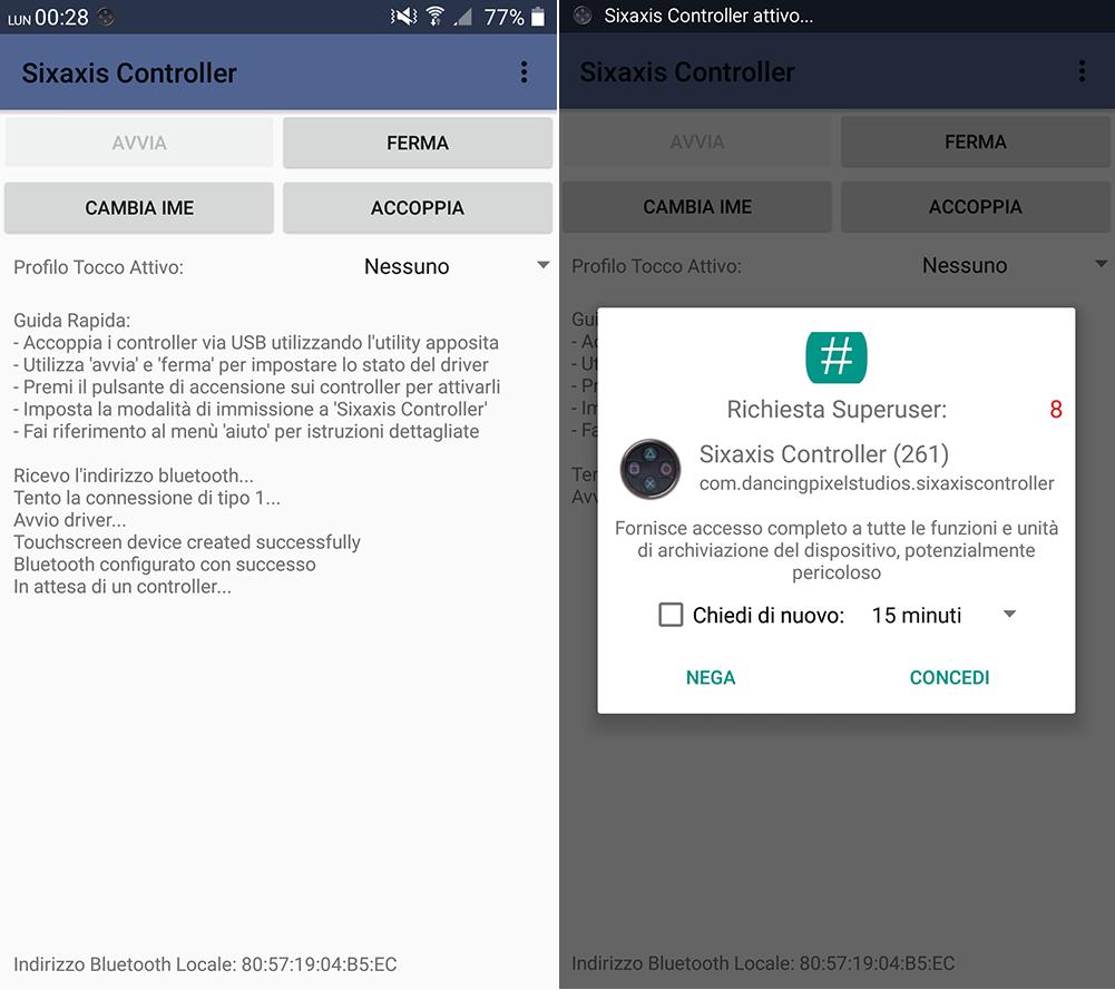 Come giocare con il joystick su Android - App per utilizzare il joystick di Play Station 3e4 - Sixaxis Controller