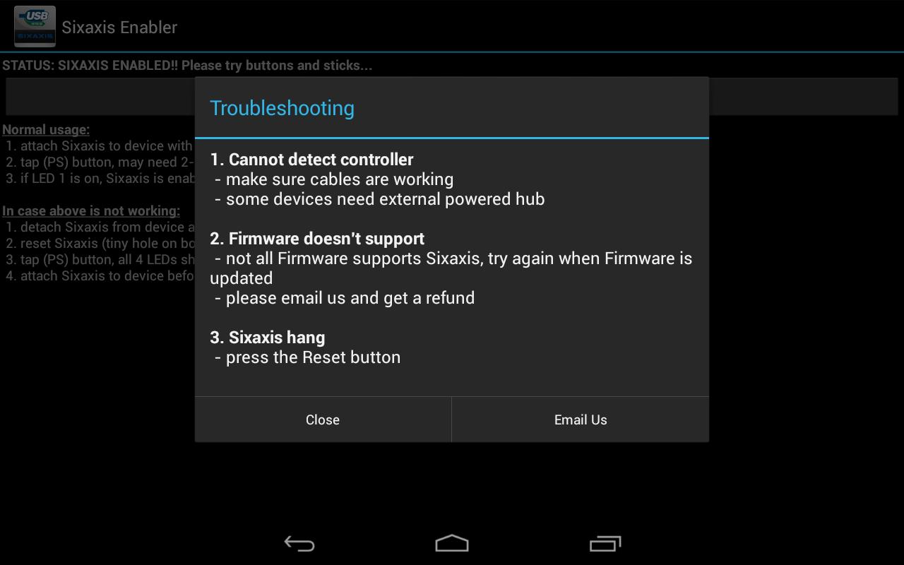 Come giocare con il joystick su Android. - App per utilizzare il joystick di Play Station 3e4 - Sixaxis Enabler 2