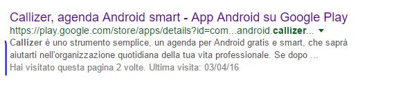 Descrizione breve app - meta description