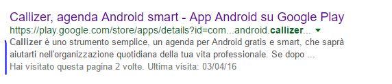 Descrizione breve app - meta description