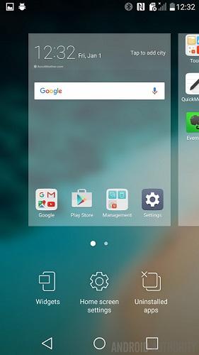 LG G5 launcher impostazioni