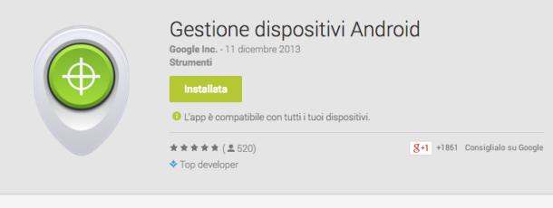 Migliori app antifurto Android - Gestione dispositivi android