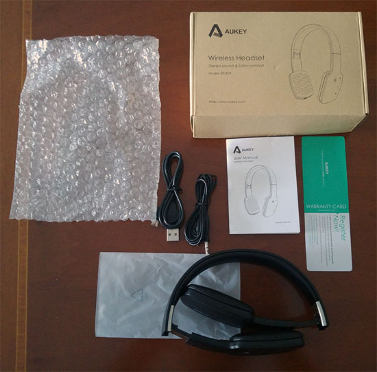 Cuffie AUKEY EP-B18 touch - Unboxing