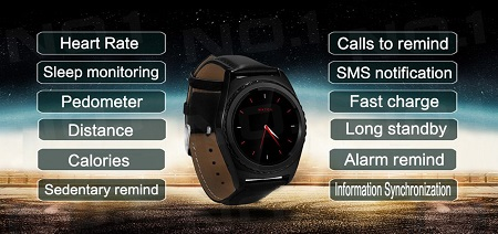 no.1 s5 smartwatch interfaccia e menù