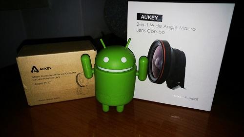 Recensione lenti Aukey per smartphone