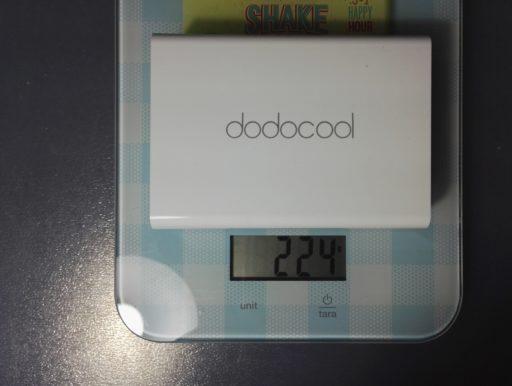 Recensione stazione di ricarica USB Dodocool | Peso