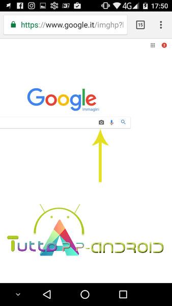 Ricerca per immagini Google da Android
