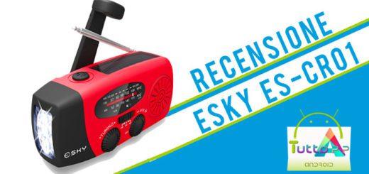 Recensione PowerBank solare Esky ES-CR01