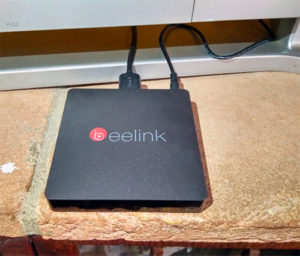 TV Box Beelink MINI MXIII-II collegato alla tv
