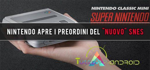 """Nintendo apre i preordini del """"nuovo"""" SNES"""
