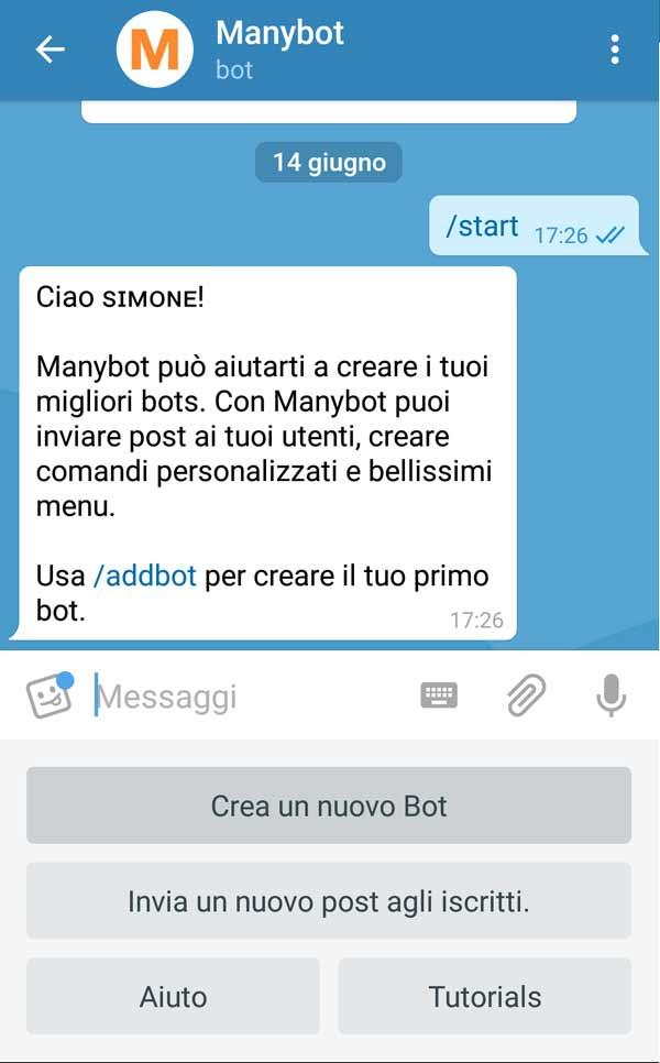 Come creare un bot su Telegram - Creazione del bot