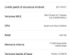 Recensione Xiaomi Mi Mix - Software (schermata informazioni)