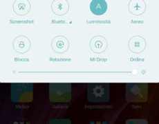 Recensione Xiaomi Mi Mix - Software (tendina notifiche)
