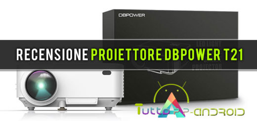 recensione proiettore DBPOWER T21