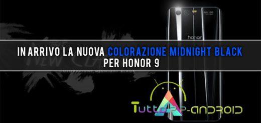 In arrivo la nuova colorazione Midnight Black per Honor 9
