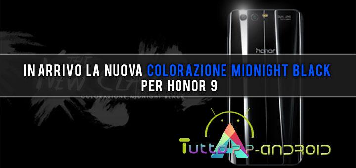 Photo of In arrivo la nuova colorazione Midnight Black per Honor 9