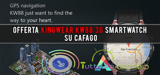 Offerta Kingwear KW88 3G smartwatch su Cafago