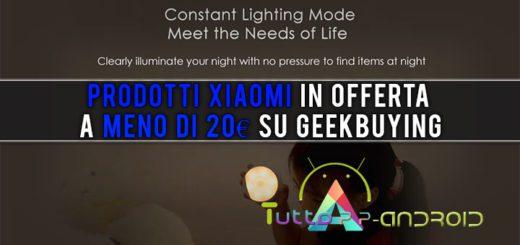 Prodotti Xiaomi in offerta a meno di 20€ su GeekBuying