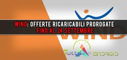 Wind: offerte ricaricabili prorogate fino al 24 settembre