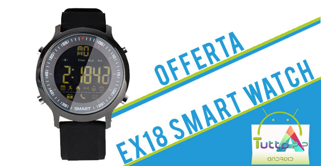 Photo of EX18 Sports Smart Watch: codice sconto su Cafago