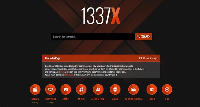 Migliori siti torrent 1337x