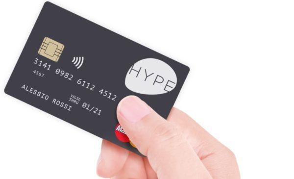 Carta Hype: la prepagata che non c'era - esempio di carta fisica