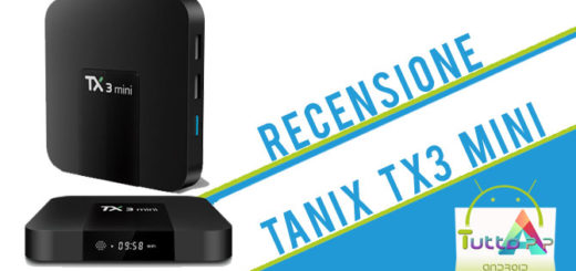 Recensione Tanix Tx3 mini box tv