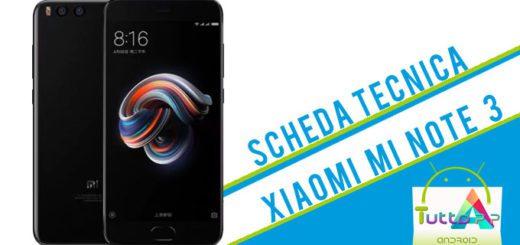Scheda tecnica Xiaomi Mi Note 3
