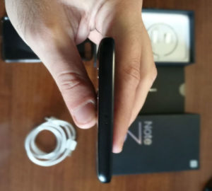 Xiaomi Mi Note 3 parte alta