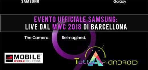 Evento ufficiale Samsung: live dal MWC 2018 di Barcellona