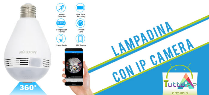 KKmoon Wireless IP camera e lampadina in offerta