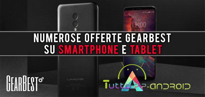 Numerose offerte Gearbest su smartphone e tablet