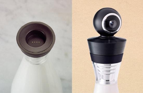 Gloo: bottiglia lampada con videocamera 360 gradi
