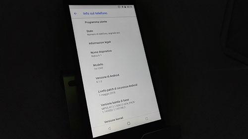 Recensione Nokia 6.1 - software