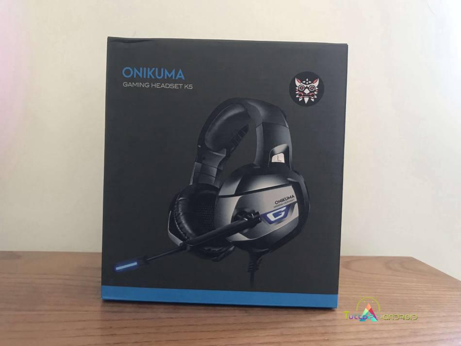 onikuma k5 cuffie gaming scatola