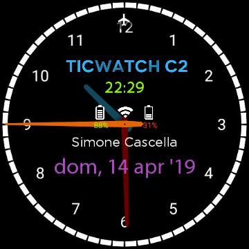 Recensione TicWatch C2 - quadrante personalizzato